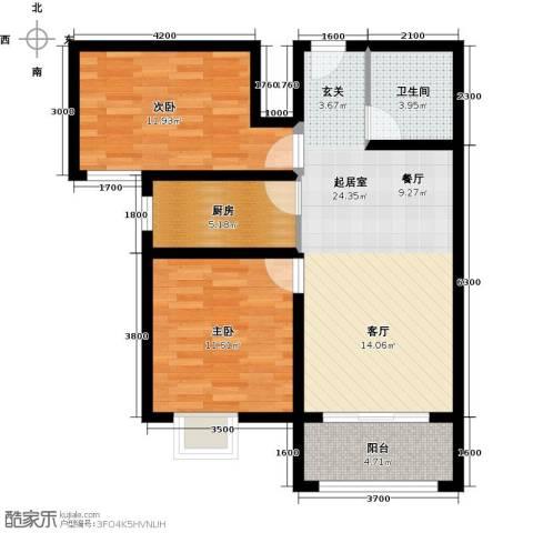 馨雅园2室2厅1卫0厨94.00㎡户型图