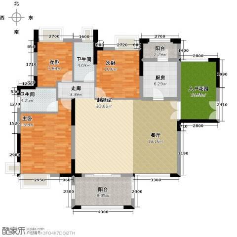 远洋城天祺3室2厅2卫0厨144.00㎡户型图