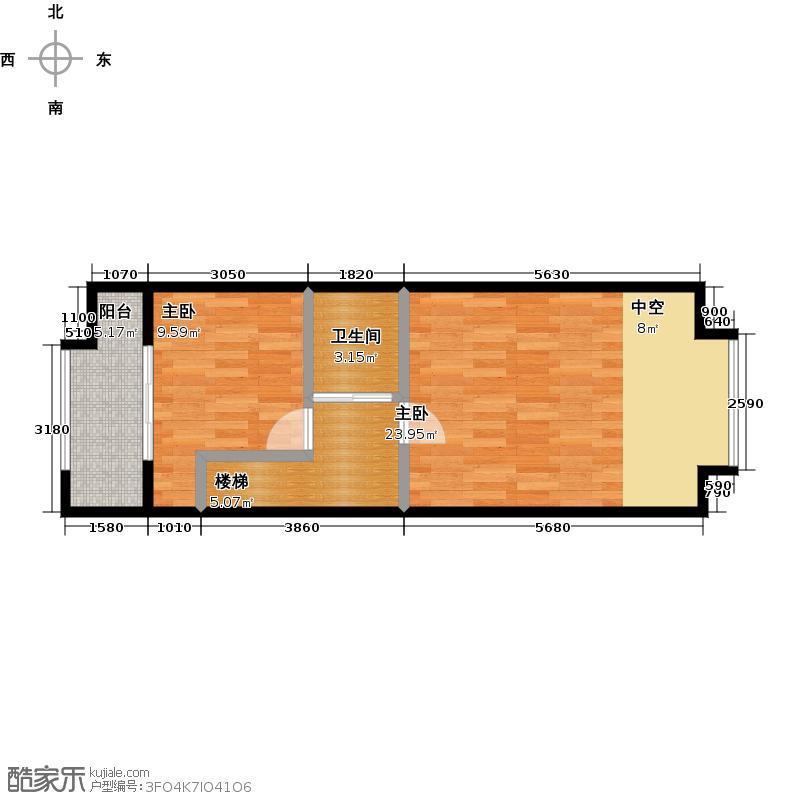 枫蓝国际60.50㎡B二层户型10室