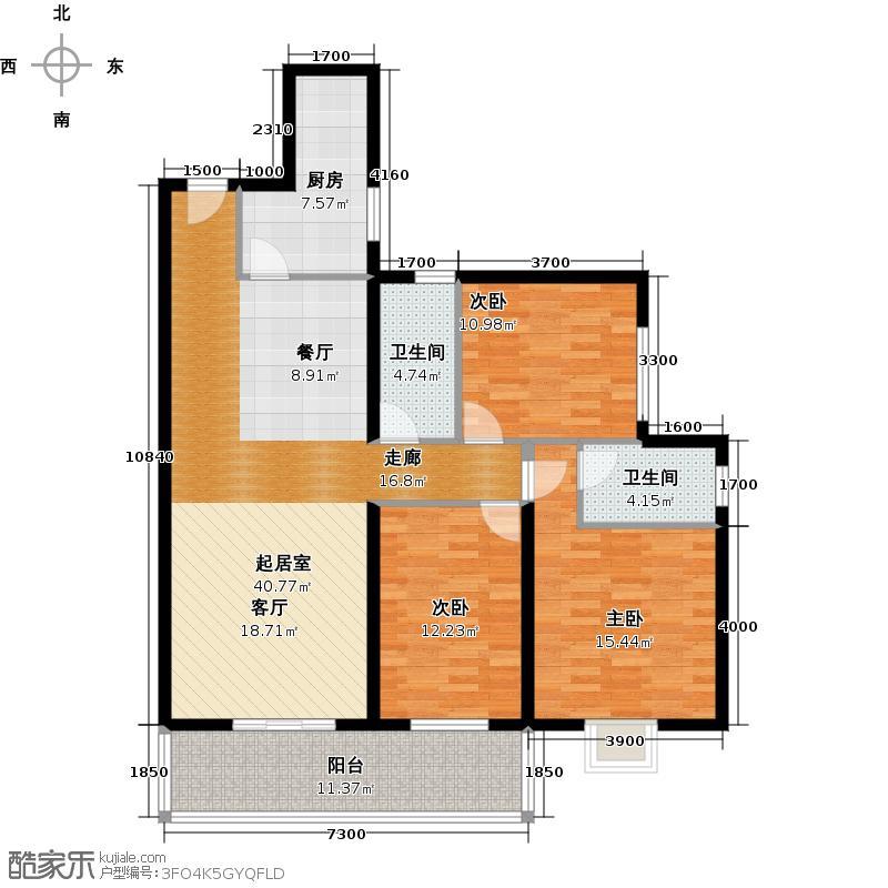 兰蒂斯城148.18㎡D1户型3室2厅2卫