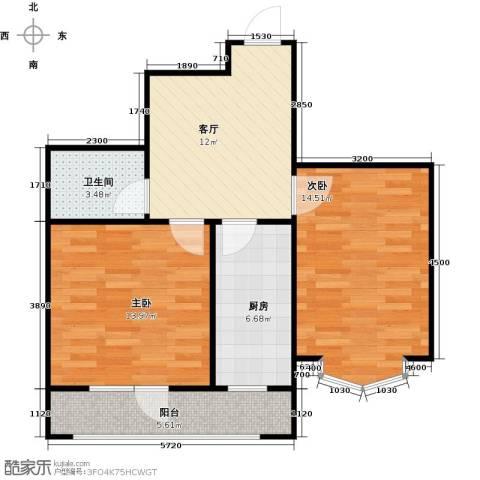 长堤湾2室1厅1卫0厨68.00㎡户型图