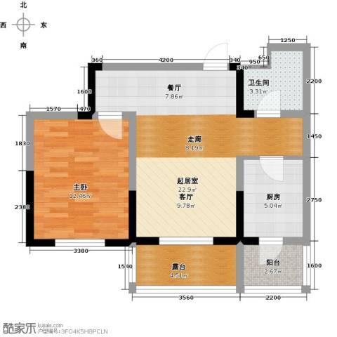 宏城御溪园70.00㎡户型图