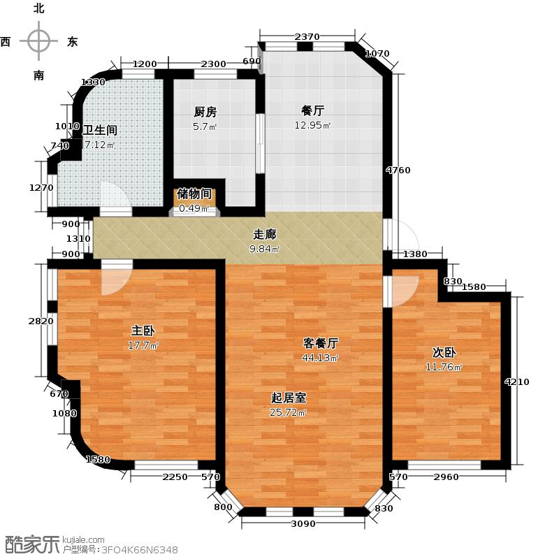 贝肯山98.47㎡户型10室
