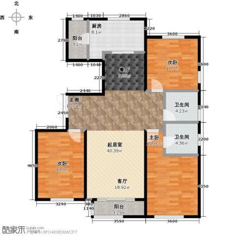万通华府3室2厅2卫0厨146.00㎡户型图