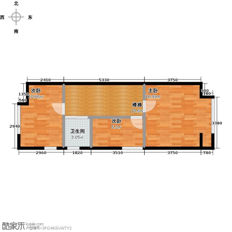 枫蓝国际70.51㎡C1二层户型10室