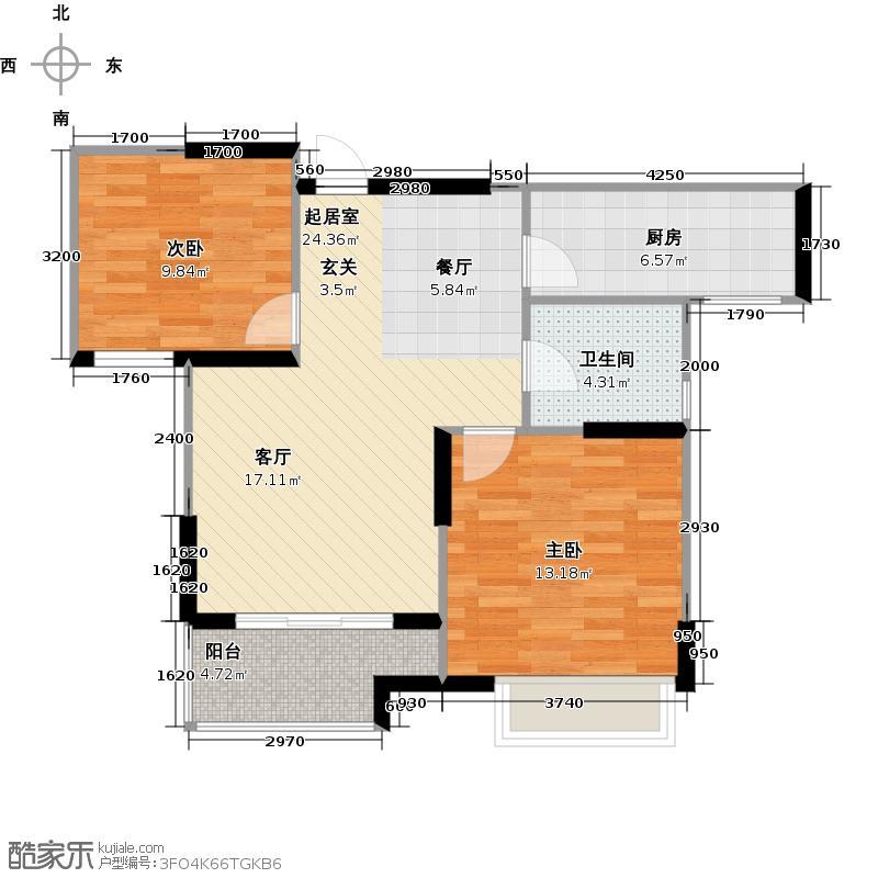 太湖国际社区89.00㎡空中花园小豪宅ME邸ⅢC2户型2室2厅1卫