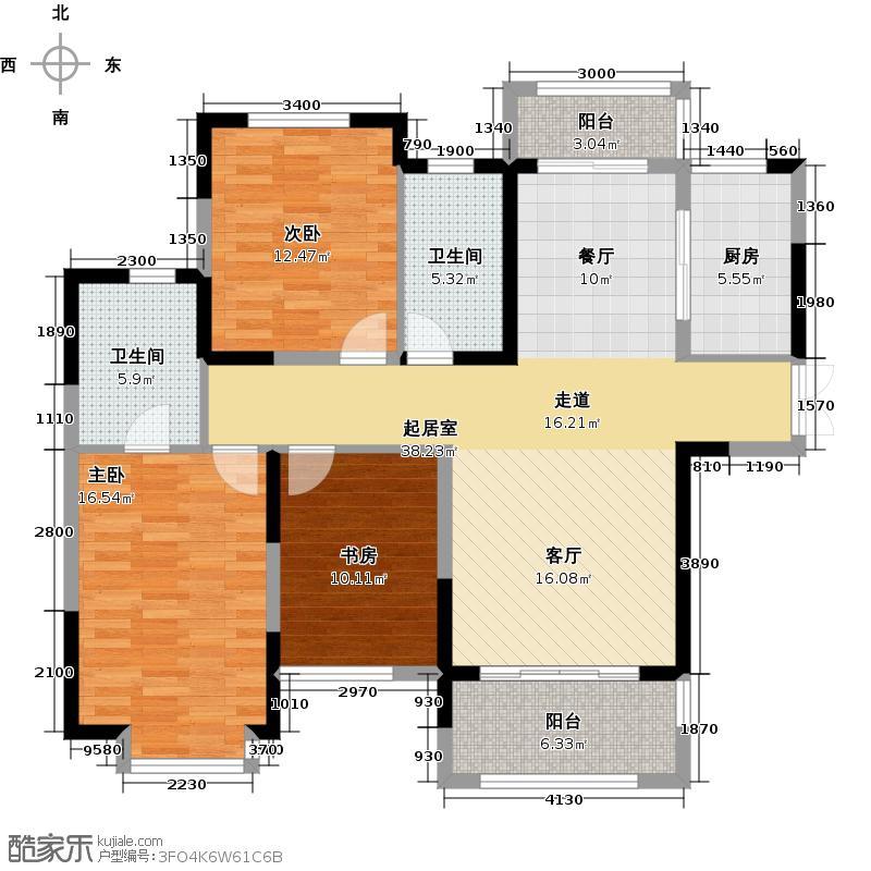中祥玖珑湾117.96㎡C1-1户型10室
