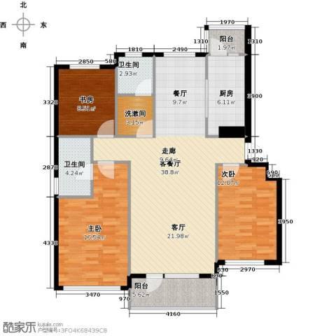 红星海世界观3室1厅2卫1厨110.79㎡户型图