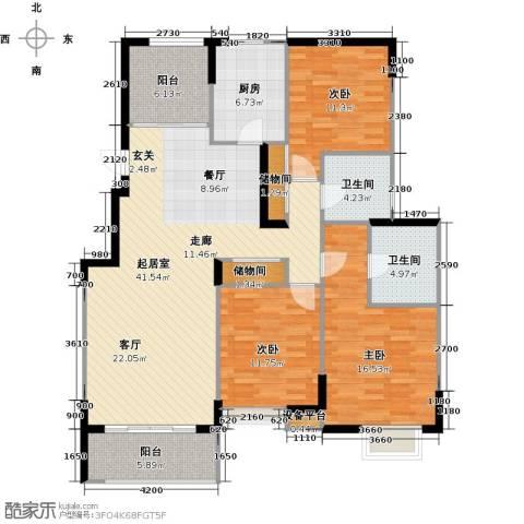 太湖国际社区3室2厅2卫0厨133.00㎡户型图