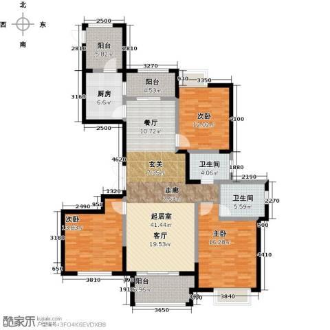 东方维罗纳3室2厅2卫0厨135.00㎡户型图