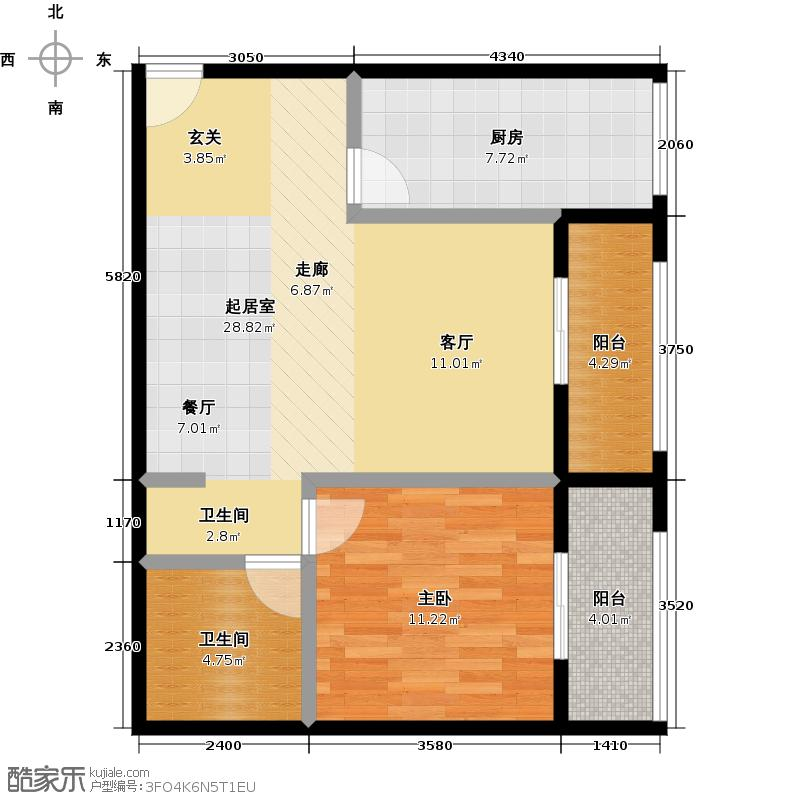 乐府国际公寓68.93㎡C2户型10室