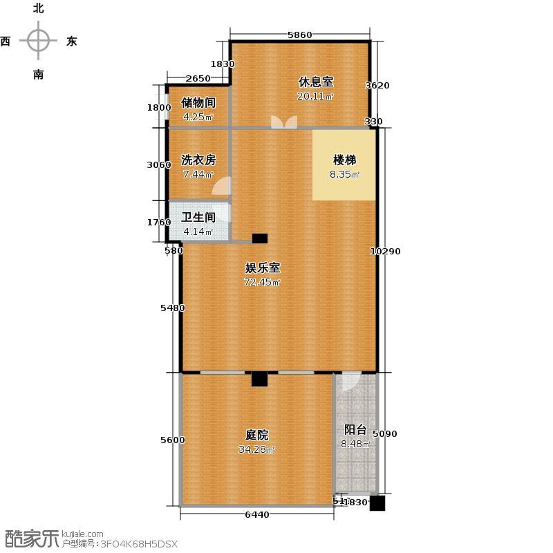 红星威尼斯庄园159.17㎡叠拼H1负2层户型10室