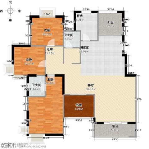 太湖国际社区3室2厅2卫0厨146.00㎡户型图