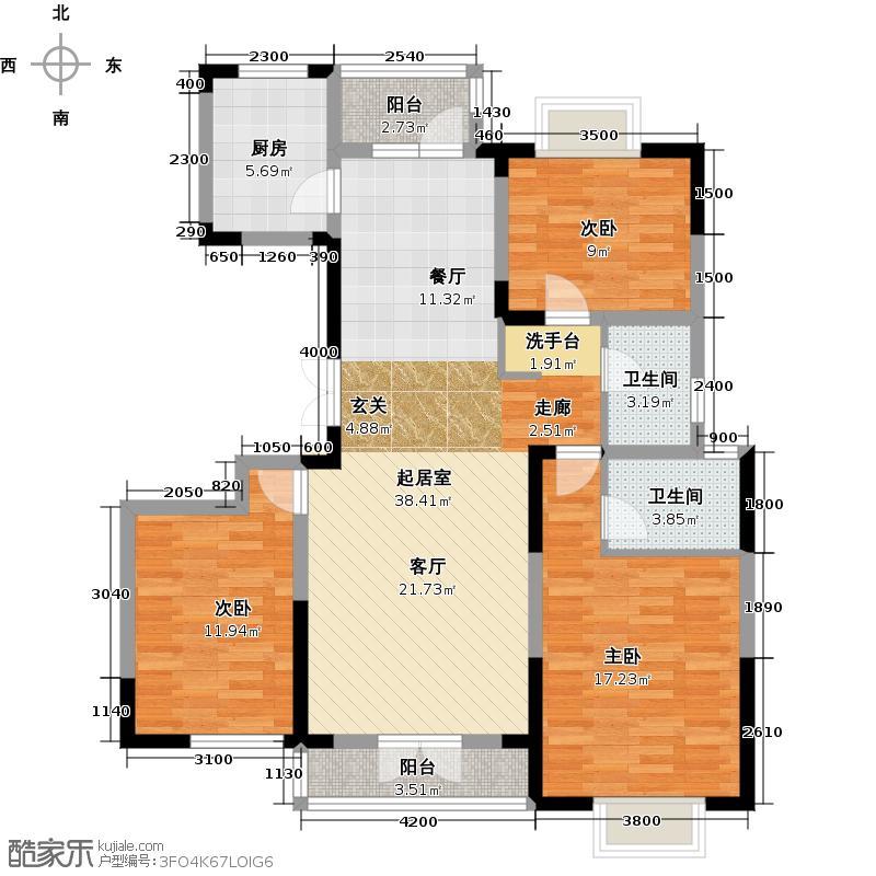 中国铁建山语城122.52㎡户型10室