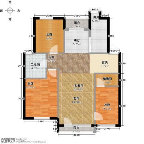 万棵树3室2厅1卫0厨100.00㎡户型图
