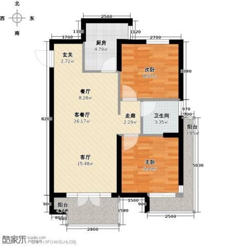 丽都新城二期爱丽香舍2室2厅1卫0厨80.00㎡户型图