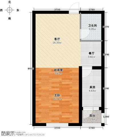 韩建大成府1室2厅1卫0厨56.00㎡户型图