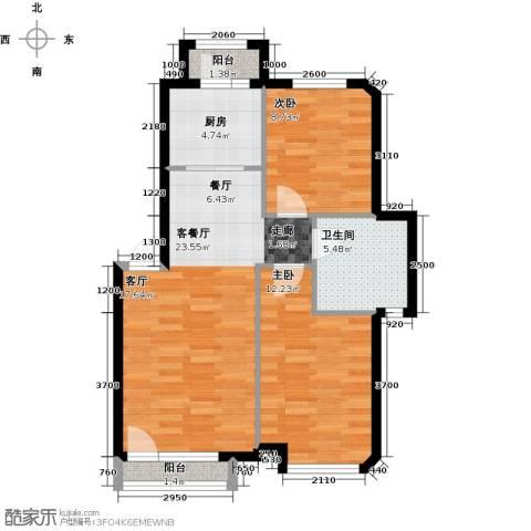万棵树2室2厅1卫0厨84.00㎡户型图