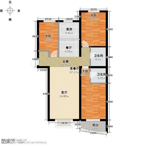 绿都皇城3室2厅2卫0厨135.00㎡户型图