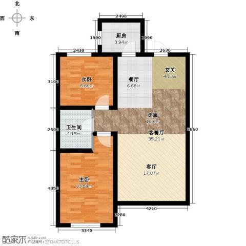 韩建大成府2室2厅1卫0厨94.00㎡户型图