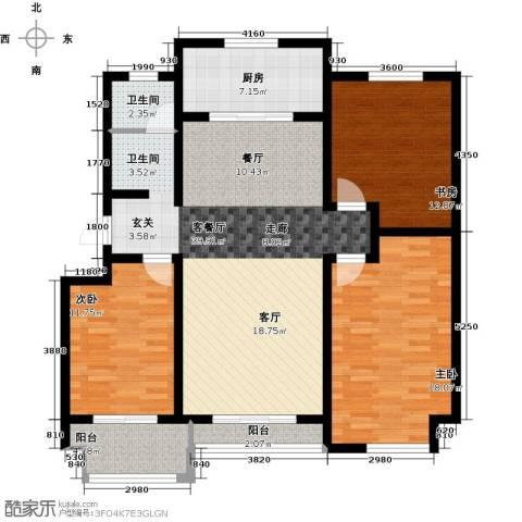 达美水岸3室2厅1卫0厨122.00㎡户型图