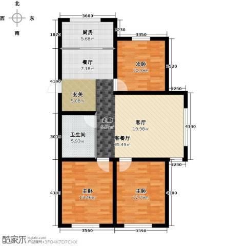 韩建大成府3室2厅1卫0厨116.00㎡户型图