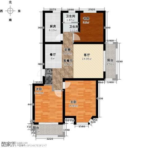 达美水岸3室2厅1卫0厨111.00㎡户型图