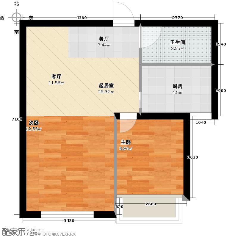 尚海华庭45.11㎡户型10室