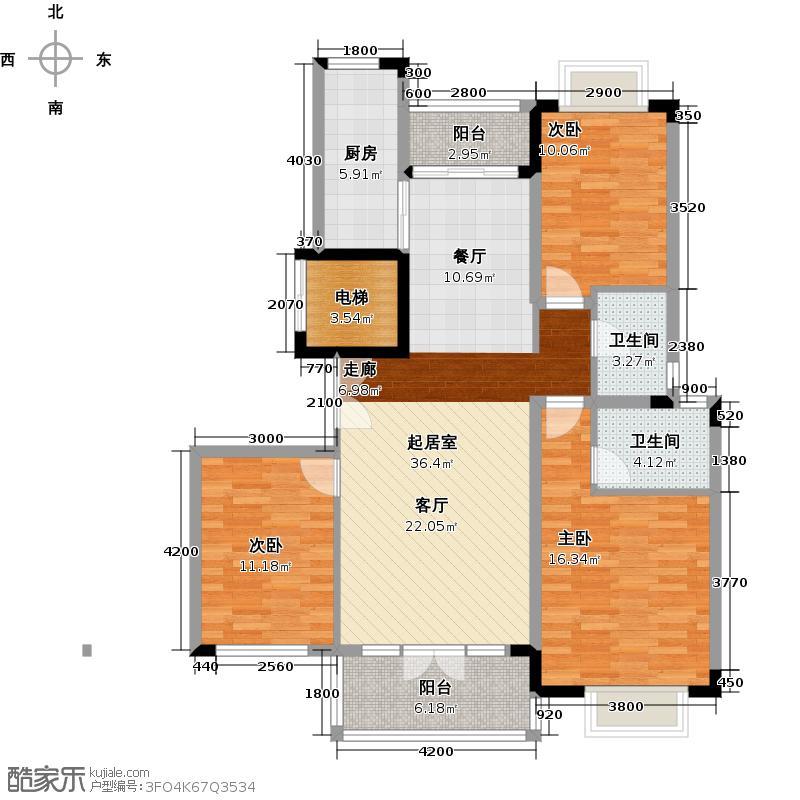 中国铁建山语城120.63㎡户型10室