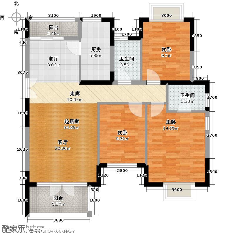 中国铁建山语城117.92㎡P户型10室