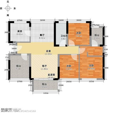 宏发上域花园4室2厅1卫0厨87.00㎡户型图