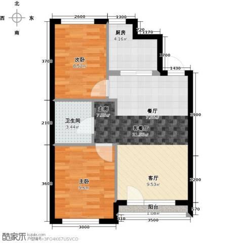 万棵树2室2厅1卫0厨69.00㎡户型图