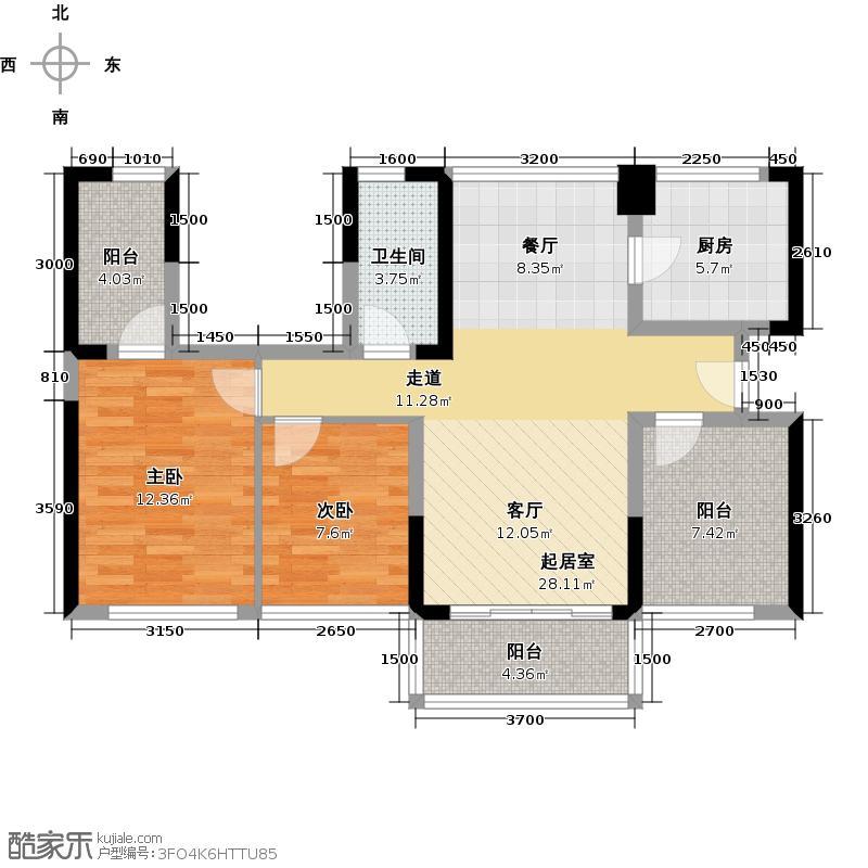宏发上域花园85.45㎡N+2创新空间户型10室
