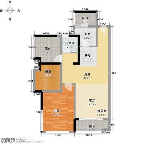 宏发上域花园3室2厅1卫0厨84.00㎡户型图