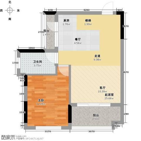 宏发上域花园4室2厅2卫0厨88.00㎡户型图