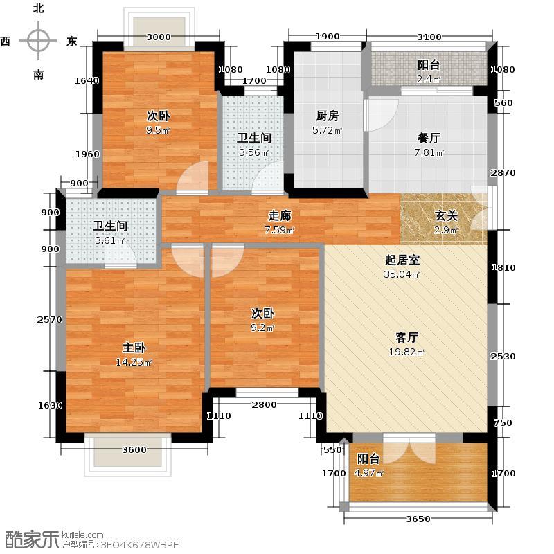 中国铁建山语城120.74㎡户型10室