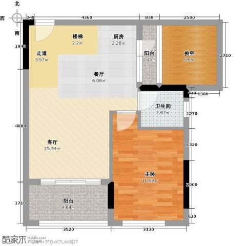 宏发上域花园4室2厅2卫0厨87.00㎡户型图
