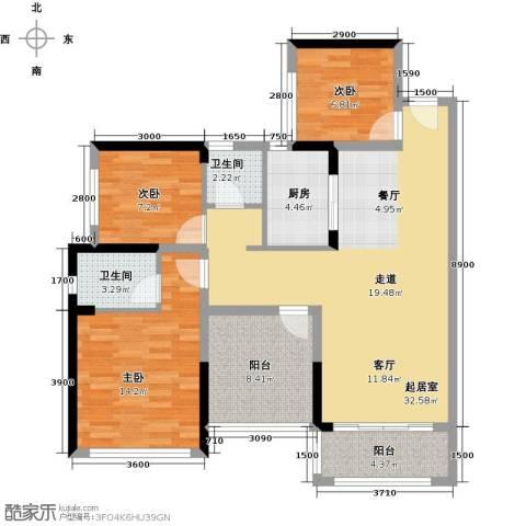 宏发上域花园4室2厅1卫0厨88.00㎡户型图
