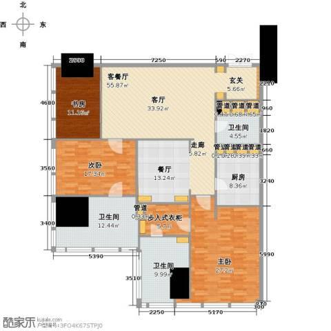 东方之门3室2厅3卫0厨193.00㎡户型图
