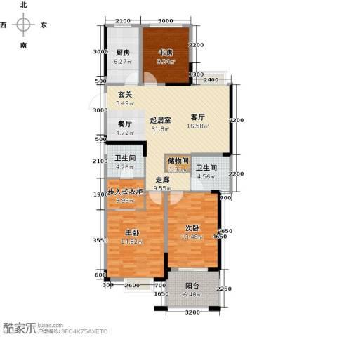 天阳尚城国际3室2厅2卫0厨116.00㎡户型图