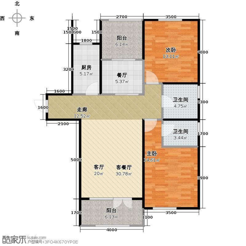 大华曲江公园世家96.66㎡项目在售户型10室