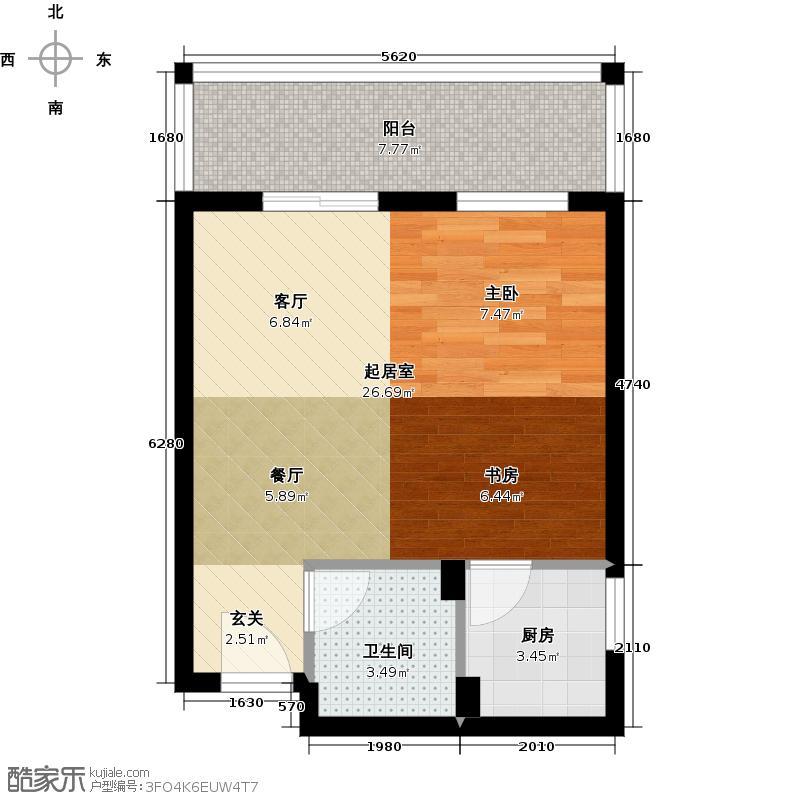 国宾中央区44.00㎡户型10室