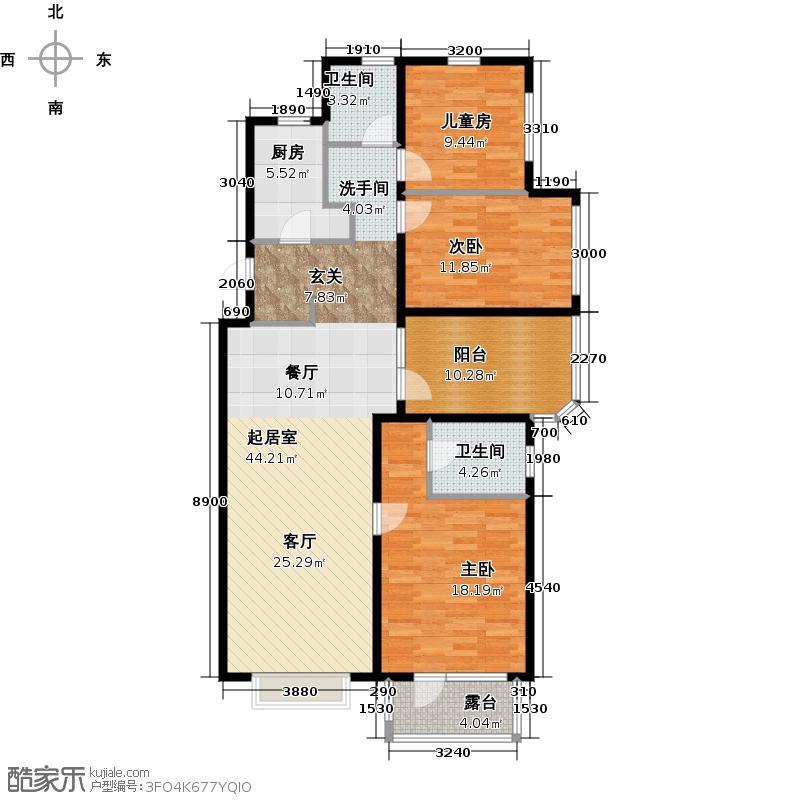 金隅・观澜时代133.00㎡A4\\\\\\\'户型3室2厅2卫