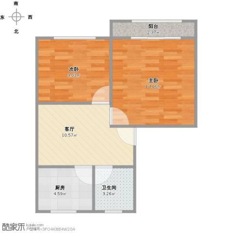 沈家宅2室1厅1卫1厨60.00㎡户型图