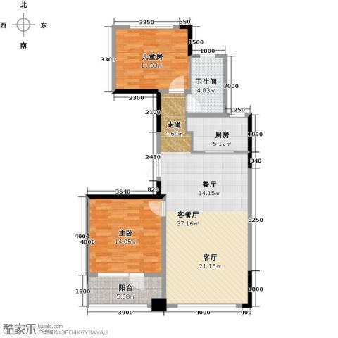 绿城玉兰花园2室2厅1卫0厨104.00㎡户型图