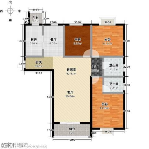 七里香格庄园3室2厅2卫0厨134.00㎡户型图