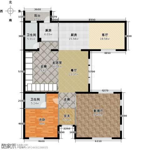 曲江公馆和园188.00㎡户型图