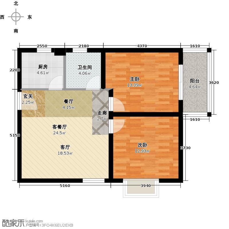 国宾中央区69.00㎡户型10室