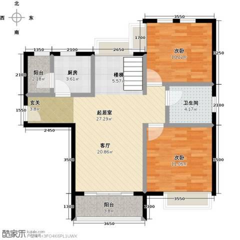 福晟钱隆城3室2厅1卫0厨135.00㎡户型图