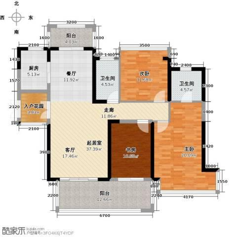 中祥玖珑湾164.00㎡户型图